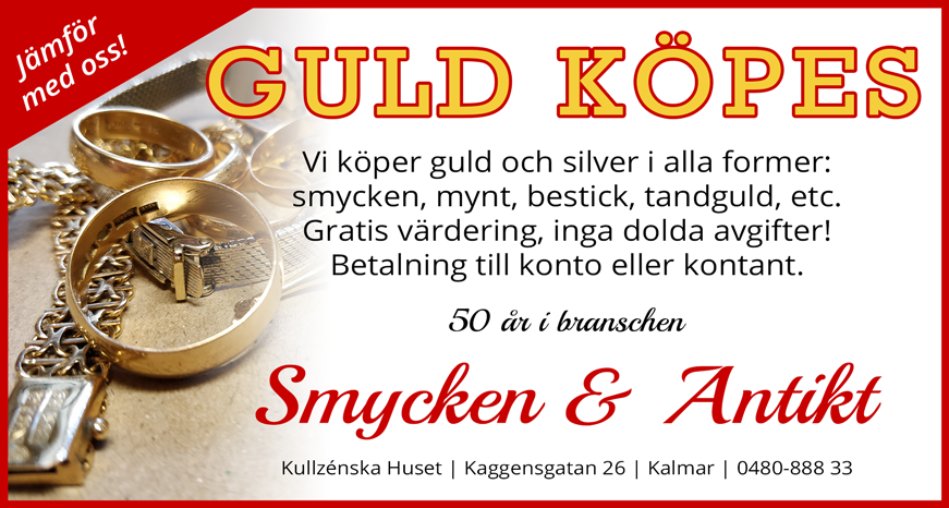 Annons guld köpes